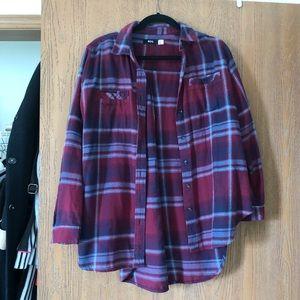 UO women's oversized flannel